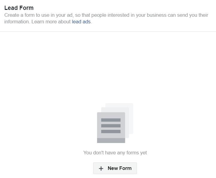 Facebook Lead Ads Step 3