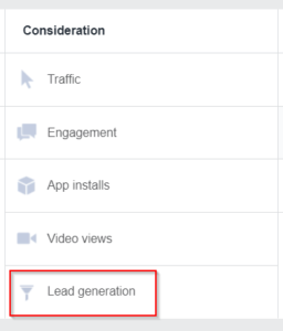 Facebook Lead Ads Step 2